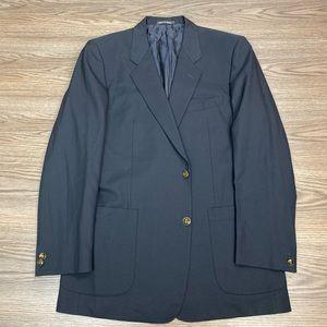 Corneliani Solid Navy Blue Blazer 40R